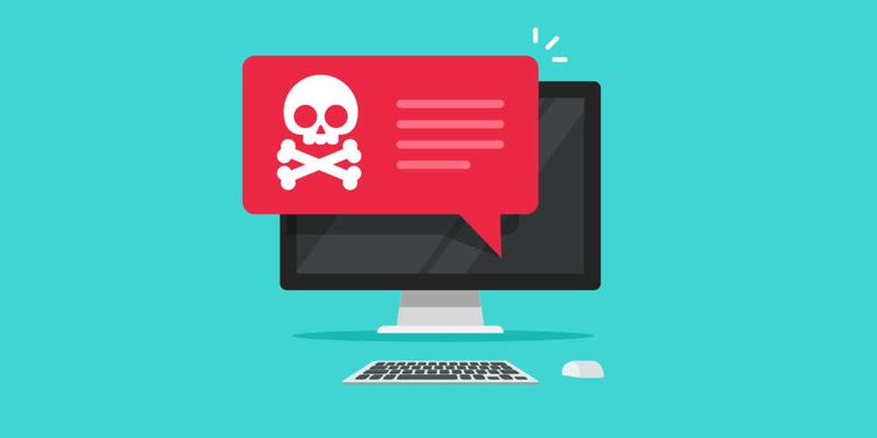ilustração de malware no computador