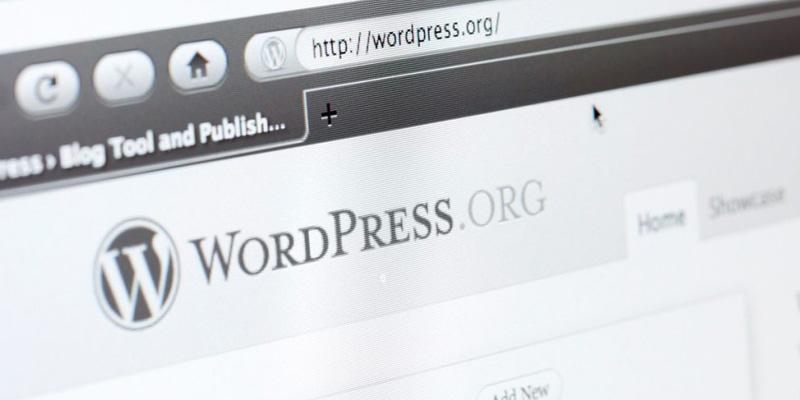 foto do site antigo WordPress.org