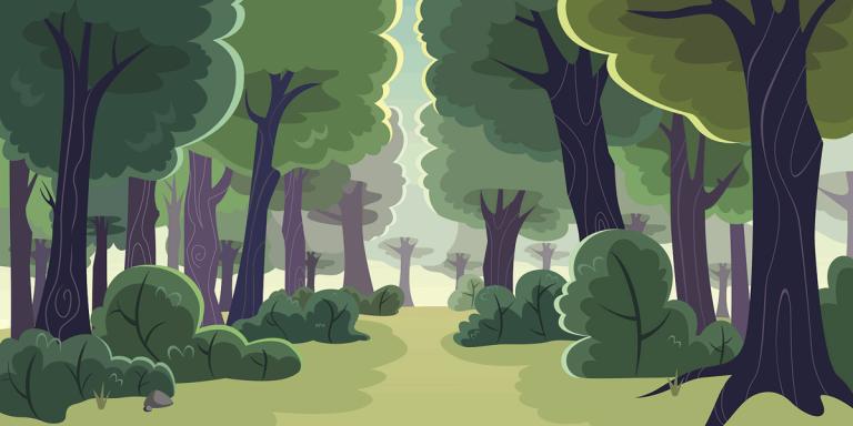 ilustração de uma floresta
